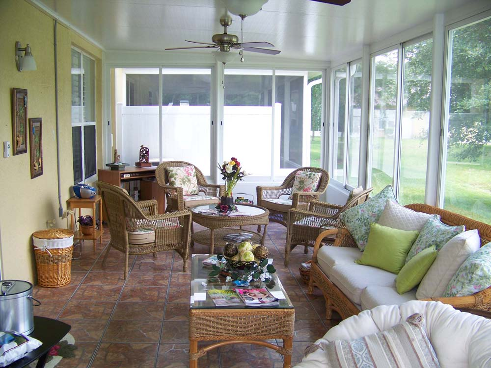 Sunroom or florida room using glass to add a room with Florida sunroom ideas